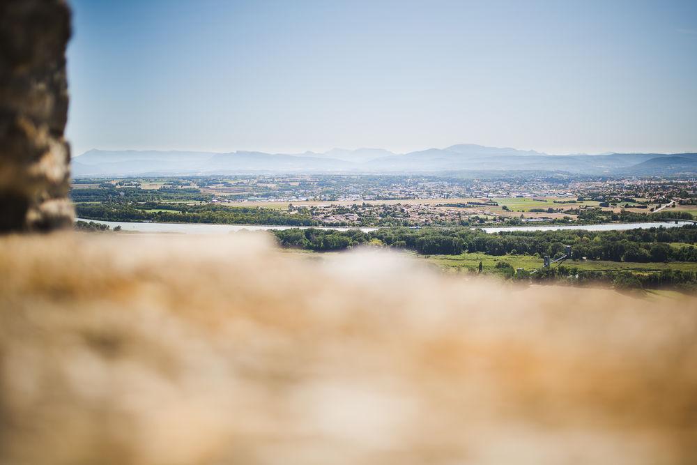 Vue sur la vallée du Rône