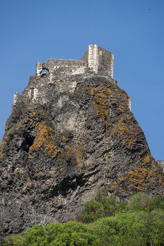 Vue du château de Rochemaure