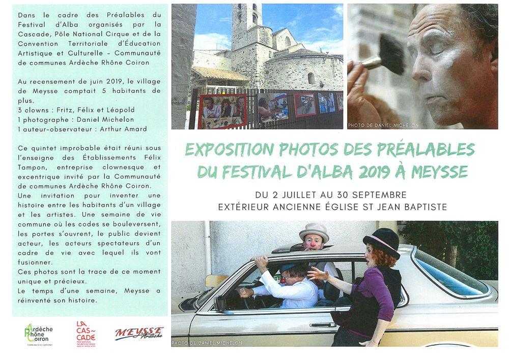 Exposition photos des préalables du Festival dAlba 2019