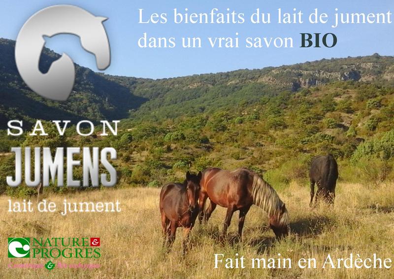 Savon Jumens au lait de jument et LAVE Ardèche